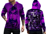 Prince Memorial Fans Man Zipper Hoodie Custom Fullprint Sublimation sizes: S to 3XL