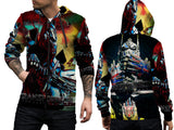 Transformers The Last Knight Fans Men Zipper Hoodie 3D Fullprint Sublimation Size : S To 3XL