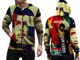 CHE GUEVARA PRINT SUBLIMATION 3D ZIPPER HOODIE FOR MEN