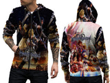 Kingdom Hearts Mens TOP Zipper Hoodie Disney Video Game Custom Fullprint Sublimation sizes: S to 3XL