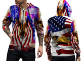 AMERICAN EAGLE PRINT SUBLIMATION 3D ZIPPER HOODIE FOR MEN