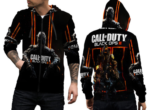 CALL OF DUTY PRINT SUBLIMATION 3D ZIPPER HOODIE FOR MEN