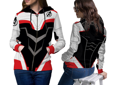 New Fans Avengers Endgame Costume 3D Digital Printed Women's Zipper Hoodie sizes: S to 3XL