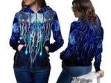 DMT 3D Digital Printed Women's Hoodie Sublimation Art 24