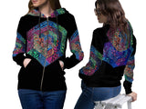 DMT 3D Digital Printed Women's Hoodie Sublimation Art 1
