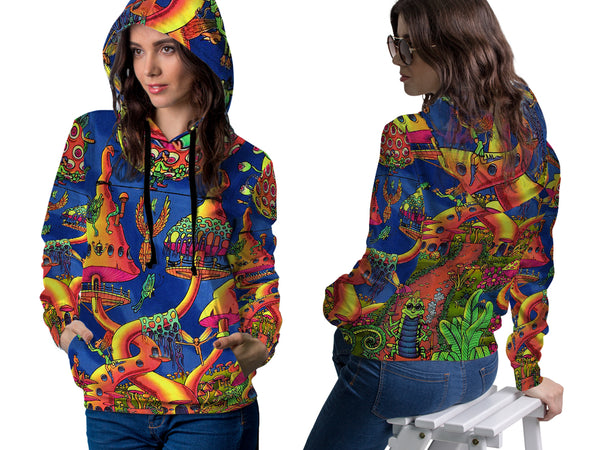 DMT 3D Digital Printed Women's Hoodie Sublimation Art 2