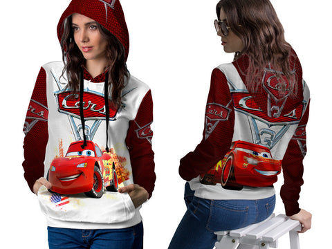 Cars 3 Disney Fans Women PullOver Hoodie 3D Fullprint Sublimation Size : S To 3XL