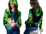 MINECRAFT For Women PullOver Hoodie 3D Fullprint Sublimation Size : S To 3XL