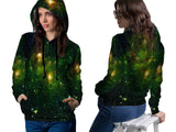 Space Galaxy 3D Digital Printed Sublimation Women's PullOver Hoodie sizes: S to 3XL