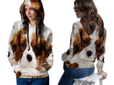 Realistic Animal Dogs 3D Digital Printed Women's PullOver Hoodie sizes: S to 3XL