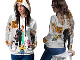 Despicable Me 3 For Women PullOver Hoodie 3D Fullprint Sublimation Size : S To 3XL