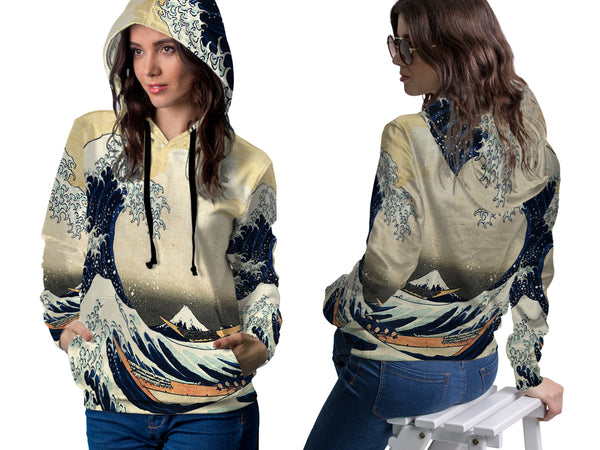 Abstract 3D Digital Printed Women's PullOver Hoodie sizes: S to 3XL