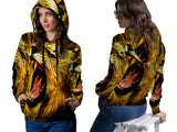 Realistic LION 3D Digital Printed Women's PullOver Hoodie sizes: S to 3XL