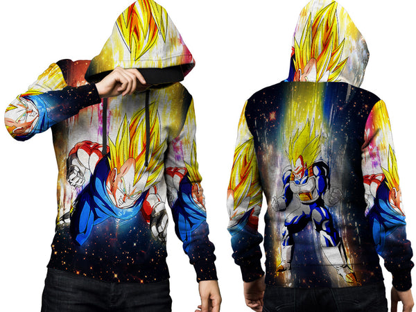 VEGETA DRAGON BALL PRINT SUBLIMATION 3D PULLOVER HOODIE FOR MEN