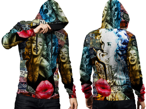 MARYLIN MONROE PRINT SUBLIMATION 3D PULLOVER HOODIE FOR MEN