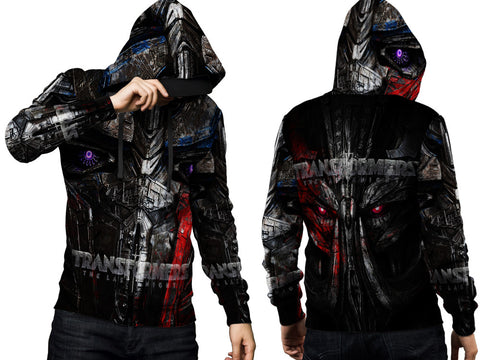 Transformers The Last Knight Fans Men PullOver Hoodie 3D Fullprint Sublimation Size : S To 3XL