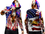 AMERICAN EAGLE PRINT SUBLIMATION 3D PULLOVER HOODIE FOR MEN