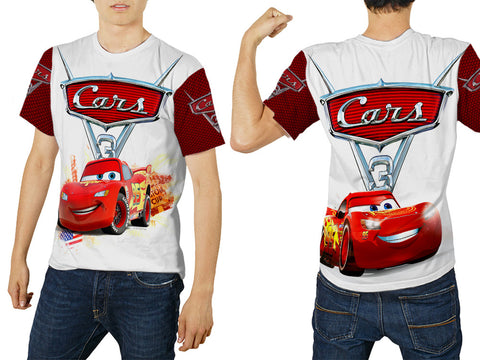 Cars 3 Disney Fans Man Tee 3D Fullprint Sublimation Size : S To 3XL