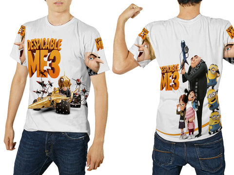 Despicable Me 3 For Man Tee 3D Fullprint Sublimation Size : S To 3XL