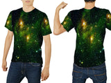 Space Galaxy 3D Digital Printed Sublimation Men's T-Shirt sizes: S to 3XL