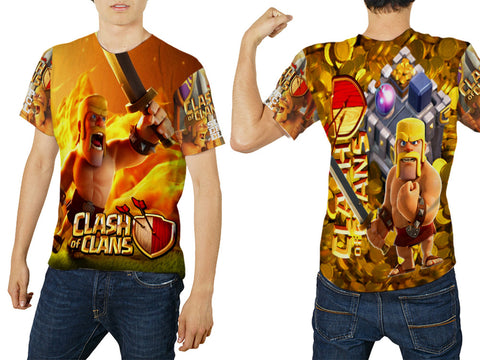 Clash of Clans For Man Tee 3D Fullprint Sublimation Size : S To 3XL