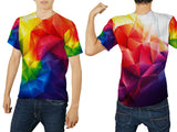 Abstract 3D Digital Printed Sublimation Men's T-Shirt sizes: S to 3XL