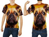 Realistic Animal Dogs 3D Digital Printed Sublimation Men's T-Shirt sizes: S to 3XL