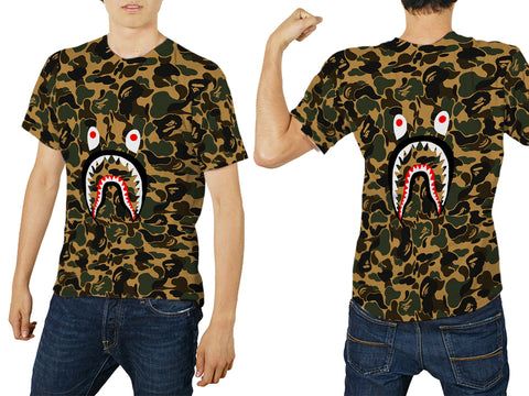 A Bathing Ape Shark Art 1 3D Digital Printed Sublimation Men's T-Shirt sizes: S to 3XL