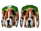 Realistic Animal Dogs 3D Digital Printed Sublimation Men's LONG SLEEVE Size : S To 3XL