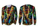 Abstract 3D Digital Printed Sublimation Men's LONG SLEEVE Size : S To 3XL