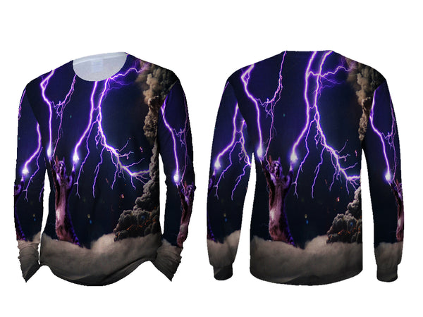 Realistic Animal Cats 3D Digital Printed Sublimation Men's LONG SLEEVE Size : S To 3XL