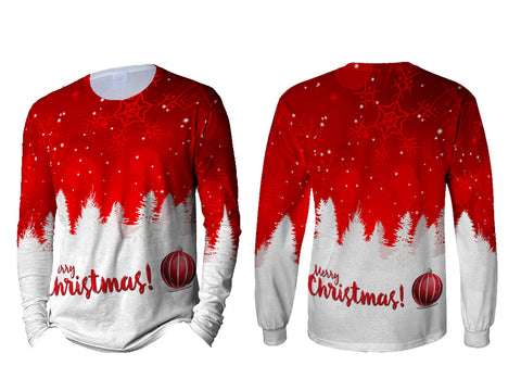 Merry Christmas 3D Digital Printed Sublimation Men's Long Sleeve T-Shirt