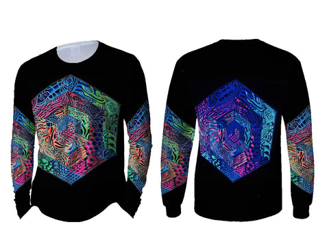 DMT 3D Digital Printed Sublimation Long Sleeve T-Shirt Art 1