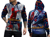 New Spider-Man Homecoming Fans Man Zipper Hoodie 3D Fullprint Sublimation Size : S To 3XL