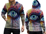 Abstract 3D Digital Printed Men's Zipper Hoodie sizes: S to 3XL