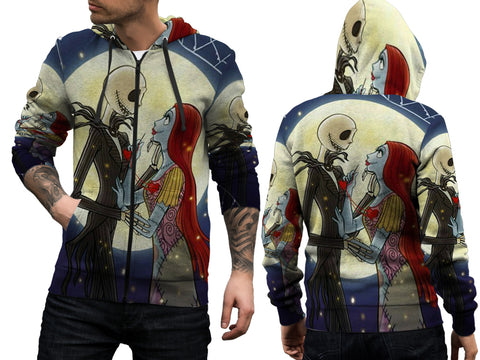 The Nightmare Before Christmas 3D Digital Printed Men's Hoodie Zipper Sublimation