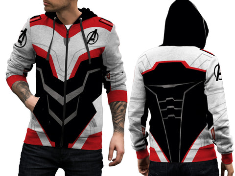 New Fans Avengers Endgame Costume 3D Digital Printed Men's Zipper Hoodie sizes: S to 3XL