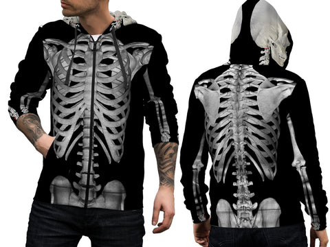 Skeleton 3D Digital Printed Men's Hoodie sizes: S to 3XL