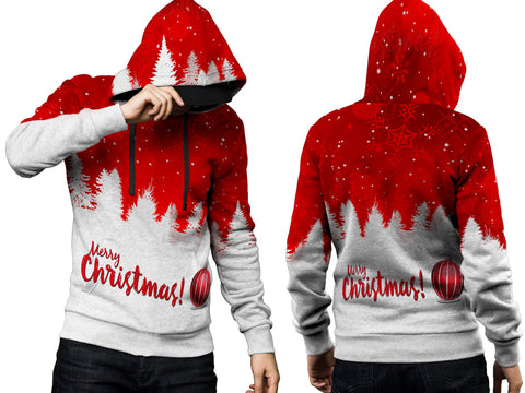 Merry Christmas 3D Digital Printed Men's Hoodie PullOver Sublimation