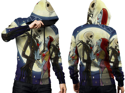 The Nightmare Before Christmas 3D Digital Printed Men's Hoodie PullOver Sublimation