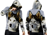 Realistic Animal Dogs 3D Digital Printed Men's PullOver Hoodie sizes: S to 3XL
