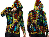 Abstract 3D Digital Printed Men's PullOver Hoodie sizes: S to 3XL