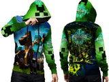 MINECRAFT For Man PullOver Hoodie 3D Fullprint Sublimation Size : S To 3XL