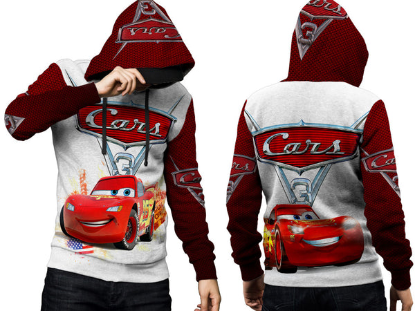Cars 3 Disney Fans Man PullOver Hoodie 3D Fullprint Sublimation Size : S To 3XL