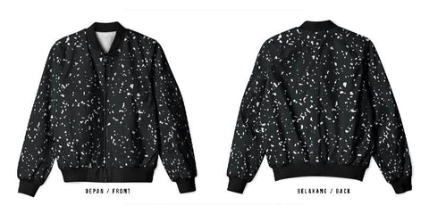 New Design Speckle Art 3 3D Digital Printed Men's Bomber Jacket Sublimation sizes: S to 3XL