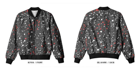 New Design Speckle 3D Digital Printed Men's Bomber Jacket Sublimation sizes: S to 3XL