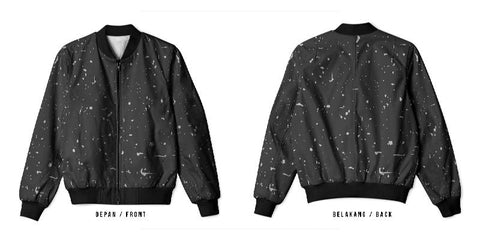 New Design Speckle Art 6 3D Digital Printed Men's Bomber Jacket Sublimation sizes: S to 3XL