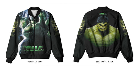 New Fans Hulk Characters Marvel Comics Universe Art 2 3D Digital Printed Men's Bomber Jacket Sublimation sizes: S to 3XL