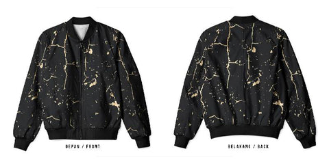 New Design Speckle Art 7 3D Digital Printed Men's Bomber Jacket Sublimation sizes: S to 3XL