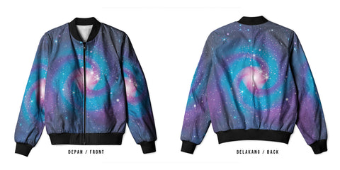 Galaxy Art 12 3D Digital Printed Men's Bomber Jacket Sublimation sizes: S to 3XL